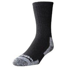 Wells Lamont 9331MN Mens Wool Crew Socks, 2-Pairs, Black, Size: 9 - 11 (Tools  Home Improvement)  B006230JQY