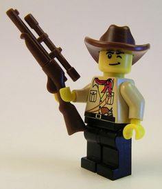 Custom COWBOY HAT for Lego Minifigures Western Bandit Project Pick your color