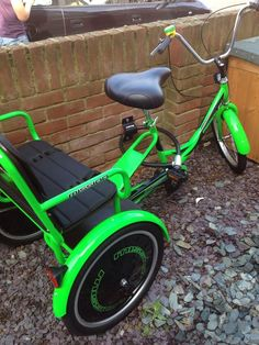 Details about Trike Adult Bike With Two Child Seats. Trikidoo Style Family Bike