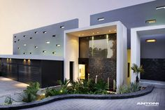 Discover the Most Beautiful Modern House Plan and Design Ideas at The Architecture Design. Visit for more ideas and more images about modern houses. Residential Architecture, Contemporary Architecture, Interior Architecture, Contemporary Building, Contemporary Homes, Dream Home Design, Modern House Design, Modern Exterior, Exterior Design