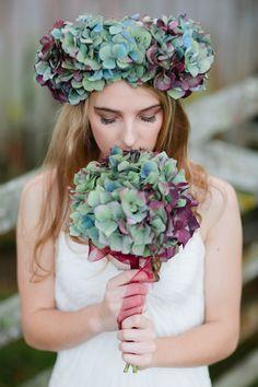 Hydrangea Inspiration Shoot by Jill Andrews   magnolia rouge