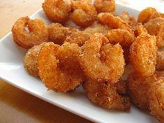 Los camarones fritos. delicio me encanta!!!