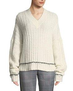 da72b307c4ac 3.1 Phillip Lim Chunky Chainmail-Paneled Sweater