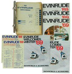Boat dealer advertising literature, Evinrude, 1969