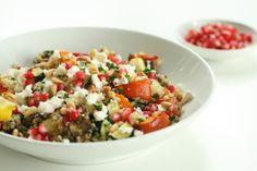 Roasted Vegetable & Feta Quinoa / scaredycatkitchen
