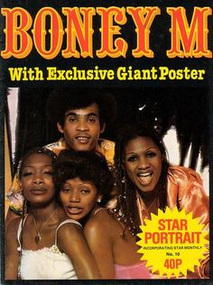STAR PORTRAIT POSTER MAGAZINE - BONEY M