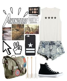 """""""Untitled #318"""" by diamonds610 ❤ liked on Polyvore featuring Old Navy, Marvel, Pointer, Converse, Givenchy and Bobbi Brown Cosmetics"""