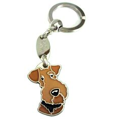 Keyring AIREDALE TERRIER on Etsy