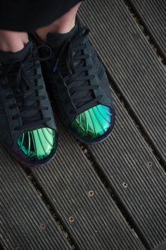san francisco fe663 a316d Bonne vente Adidas Superstar Femme Metal Toe Noyau Noir, Coloré Moins cher  Tenis Superstar,