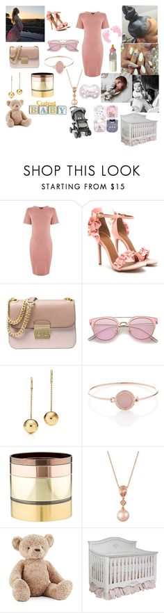 """""""ITS A GIRL !"""" by dannynoche ❤ liked on Polyvore featuring interior, interiors, interior design, home, home decor, interior decorating, Topshop, Michael Kors, Gemma Redux and LE VIAN"""