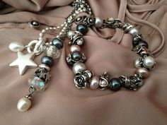 so many pearls! and I love the shooting star bead on the necklace