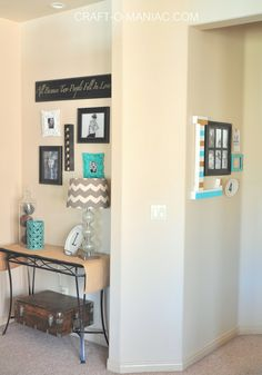 Super simple and pretty 5 Piece Gallery Wall to add to your home decor. Entry Way Design, Awkward, Curb Appeal, Gallery Wall, Gift Ideas, Simple, Home Decor, Decoration Home, Lobby Design