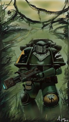 """haaaaaaaaave-you-met-ted: """"Pre Heresy Salamander Tactical marine by Ilqar """""""