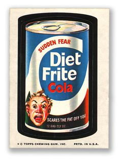 Topps Wacky Packages  10th Series 1974 DIET FRITE COLA