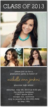 Studio Basics: Graduation Invitations Classy Chalkboard - Front : Black,  I really like these!