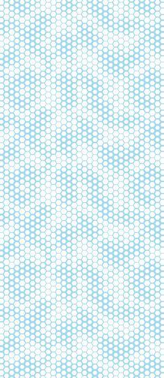 Honeycomb - Cyan Arctic White, wallpaper by Lars Contzen