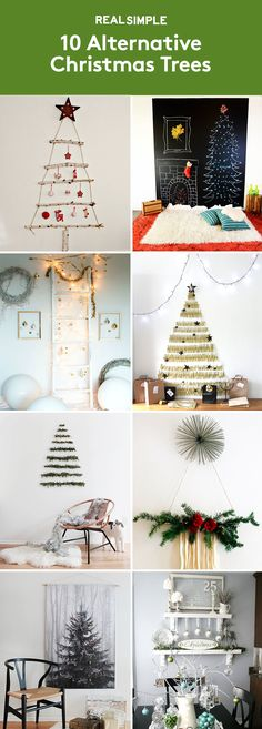 10 Alternative Christmas Trees | If your space is too small for a Douglas Fir, or you just want to try something out-of-the-ordinary this year, give one of these clever DIY ideas a go.