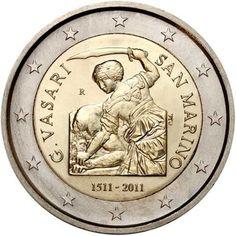 """Moneta Commemorativa """"500° anniv. nascita Giorgio Vasari"""" Anno: 2011 Stato: San Marino"""