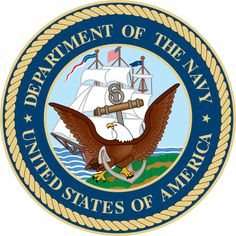 Military US Navy Emblem Fabric Custom Printed 6554