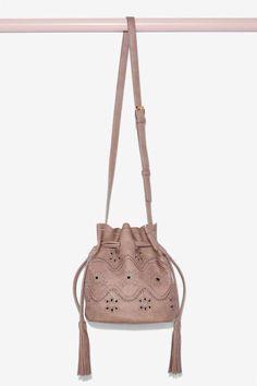 961f814921 Eyelets Wide Open Bucket Bag - Accessories