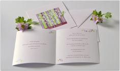 Besonder Hochzeitseinladung mit Textdruck