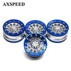AXSPEED High Quality 1.9inch Wheels Beadlock Alloy Metal Rims Wheel Aluminum Wheel Rims For RC 1:10 Truck Rock Crawler Car