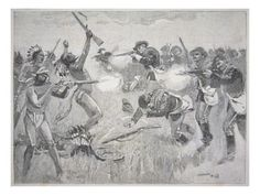 Wounded Knee Massacre | The Wounded Knee Massacre, 29th December 1890 Giclee Print by American ...