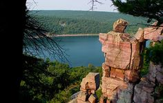 Devils Lake - Wisconsin   The boys hiked to this very rock last summer. One of our best camping trips. Gorgeous lake.