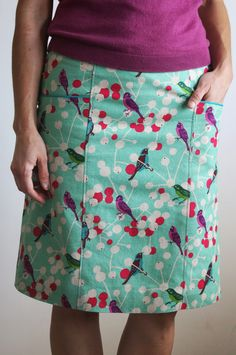 Sewing Skirts Little Birdy skirt.pattern drafted using the Cal Patch book. Skirt Patterns Sewing, Clothing Patterns, Diy Clothing, Sewing Clothes, Gored Skirt, Skirt Tutorial, Skirts With Pockets, Fashion Sewing, Dressmaking