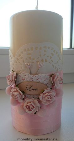 Candle Art, Candle Lanterns, Diy Candles, Pillar Candles, Wedding Unity Candles, Personalized Candles, Shabby Chic Crafts, Flower Boxes, Candle Making