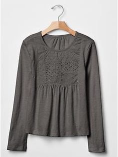 Patch eyelet tee