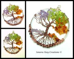 Four Seasons Tree of Life Pendant Made to by SonoraKayCreations, $39.99