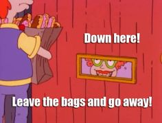 rugrats episode where Angelica orders a BUNCH of junk food from aippy zappy home delivery :D