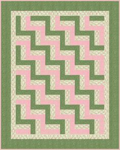 Free Easy Beginner's Baby Rail Fence Quilt Pattern http://www.victorianaquiltdesigns.com/VictorianaQuilters/PatternPage/EasyBeginnersBabyRailFence/EasyBeginnersBabyRailFence.htm #quilting