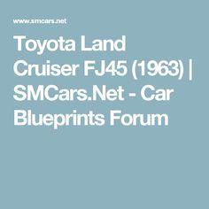 Toyota Land Cruiser FJ45 (1963) | SMCars.Net - Car Blueprints Forum