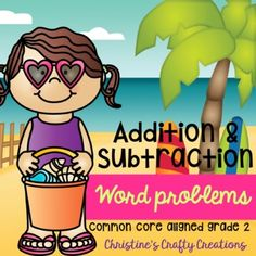 24 word problems for 2nd grade.-Great for center activities, review practice, morning work, independent practice, and more.-Answer key included-Both black and white and colored versions included. First Grade Activities, Math Activities, Math Stations, Math Centers, Elementary Teacher, Elementary Education, Teaching Resources, Teaching Ideas, Math Task Cards