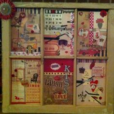 A bit busy for me, but love the idea of using the window as sort of a scrapbook frame