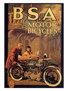 AP1549 - BSA Motorcycles, Vintage Advert, 1920