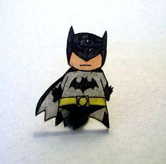 Batman Necklace, Hand Drawn Batman Charm Necklace, Fun Sized Batman Necklace. $12.00, via Etsy.