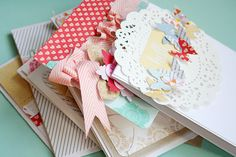Danielle Flanders; love the bright look of these cards