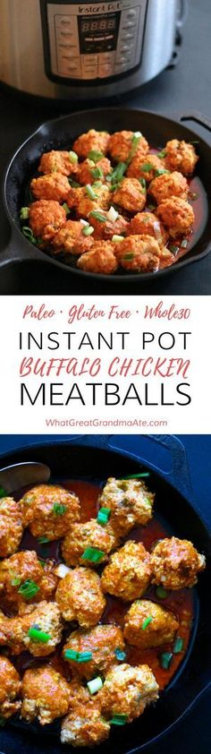 Paleo Instant Pot Buffalo Chicken Meatballs
