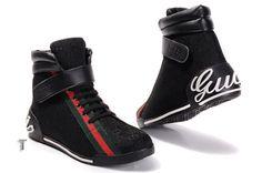 2013 Gucci Mens High Top Shoes Black