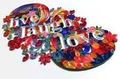 Typography on #Art-Quilling -