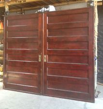 Charmant 1910 Antique / Vintage LARGE 6 Panel Pocket Doors   9 Ft Wide X