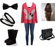 """Sweaters & Bows"" by emma-lee97 on Polyvore"