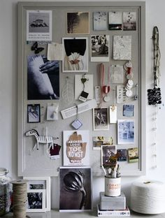Pin Board in closet to keep outfit ideas on