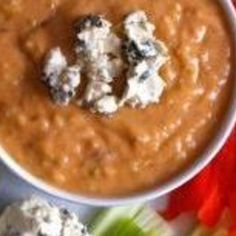 Healthy Buffalo Bean Dip Recipe | Just A Pinch Recipes Follow or Friend me I'm always posting awesome stuff:  http://www.facebook.com/tennie.keirn  Join Our Group for great recipes and diy's: www.facebook.com/groups/naturalweightloss1