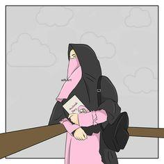 Muslim Girls Women Hijab Cartoon Anime Muslimah Gaya Face Veil Niqab Art Quotes