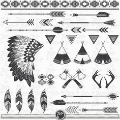 You will receive 28 beautifully rendered separate PNG files (transparent background) which were created at Each clipart element is saved separately about Graffiti Alphabet, Indian Theme, Indian Art, Dream Catcher Clipart, Desenhos Old School, Indian Tattoo Design, American Indian Tattoos, Native American Symbols, Tatuagem Old School