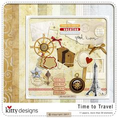 Oscraps :: Shop by Designer :: Kitty Designs :: Time To Travel Life Is A Journey, Travel Kits, Travel Scrapbook, That Way, Digital Scrapbooking, Vintage World Maps, Kitty, Journal Ideas, Design